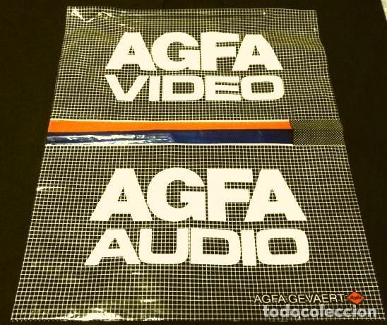 ANTIGUA BOLSA PLÁSTICO AGFA - AUDIO / VIDEO - BARCELONA - PUBLICIDAD AGFA-GEVAERT - AÑOS 80 (Cámaras Fotográficas - Catálogos, Manuales y Publicidad)