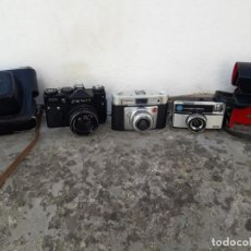 Cámara de fotos: LOTE 3 ANTIGUAS CAMARAS FOTOGRAFICAS. ENVIO GRATIS. Lote 205473997