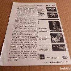 Cámara de fotos: ANUNCIO CAMARA DE FOTOS EXAKTA VAREX II B MICROFOTOGRAFIA - PUBLICIDAD DE 1967. Lote 205886058