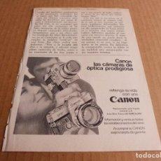 Cámara de fotos: ANUNCIO CAMARAS DE FOTOS CANON - PUBLICIDAD DE 1969. Lote 205887067