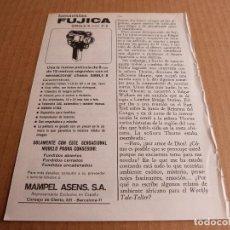 Cámara de fotos: ANUNCIO TOMAVISTAS FUJICA SINGLE-8 Z-2 - PUBLICIDAD DE 1967. Lote 205895461