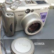 Cámara de fotos: CAMARA FOTO CANON G3 DIGITAL. Lote 206198631