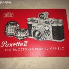 Cámara de fotos: PAXETTE II - BRAUN - NURNBERG - INSTRUCCIONES PARA EL MANEJO - 24 PÁGINAS - AÑOS 50. Lote 206425405