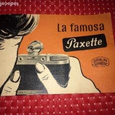 Cámara de fotos: LA FAMOSA PAXETTE - BRAUN NURNBERG - CATALOGO AÑOS 50. Lote 206434750