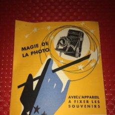 Cámara de fotos: ROYER - MAGIE DE LA PHOTO - CATÁLOGO AÑOS 50 - PARIS. Lote 206436452