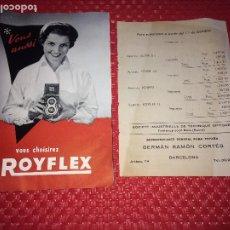 Cámara de fotos: ROYFLEX - CATÁLOGO AÑO 1954 Y LISTA DE PRECIOS - PARIS. Lote 206438611