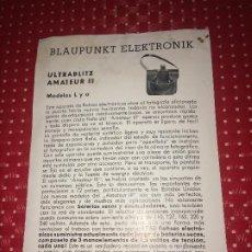 Cámara de fotos: BLAUPUNKT ELEKTRONIK - ULTRABLITZ AMATEUR III - FOLLETO - AÑOS 50. Lote 206440400