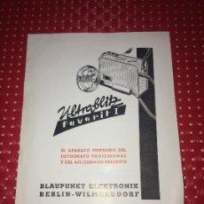 Cámara de fotos: BLAUPUNKT ELEKTRONIK - ULTRABLITZ - FOLLETO - AÑOS 50. Lote 206441881