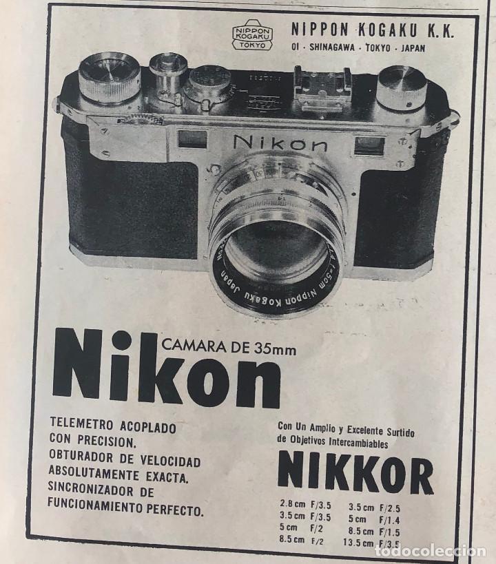PUBLICIDAD DE PRENSA DE CÁMARAS NIKON NIKKOR. ORIGINAL AÑO 1954. 14 X 18 CM. BUEN ESTADO. (Cámaras Fotográficas - Catálogos, Manuales y Publicidad)