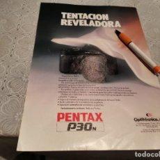 Cámara de fotos: CÁMARA FOTOS PENTAX P30N REVERSO ROPA NIÑOS POKITO'S ANUNCIO PUBLICIDAD REVISTA 1989. Lote 207140017