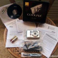 Cámara de fotos: CÁMARA DE FOTOS - NIKON - COOLPIX L19 - NUEVA, A ESTRENAR - CAJA DE ORIGEN CON TODO EL KIT COMPLETO. Lote 207283733