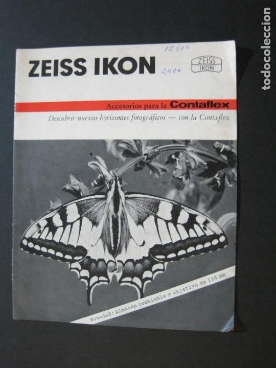 ZEISS IKON-CONTAFLEX-CAMARA FOTOGRAFICA-CATALOGO DE PUBLICIDAD-VER FOTOS-(V-20.543) (Cámaras Fotográficas - Catálogos, Manuales y Publicidad)