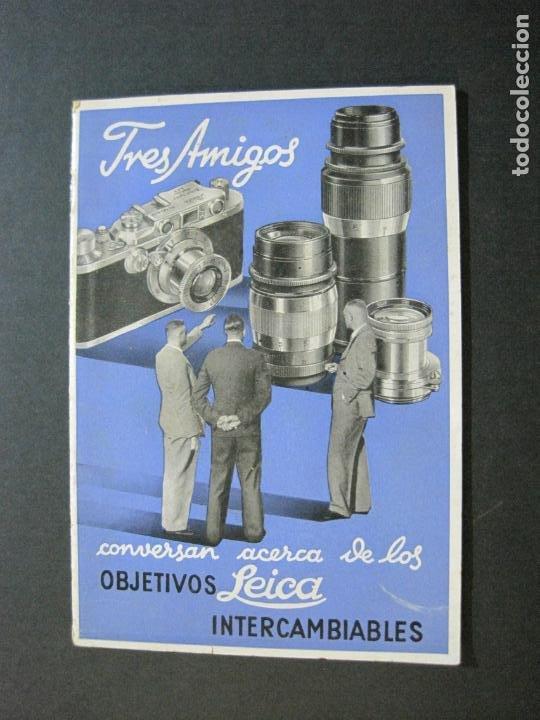 OBJETIVOS LEICA-CAMARA FOTOGRAFICA-CATALOGO DE PUBLICIDAD-VER FOTOS-(V-20.544) (Cámaras Fotográficas - Catálogos, Manuales y Publicidad)