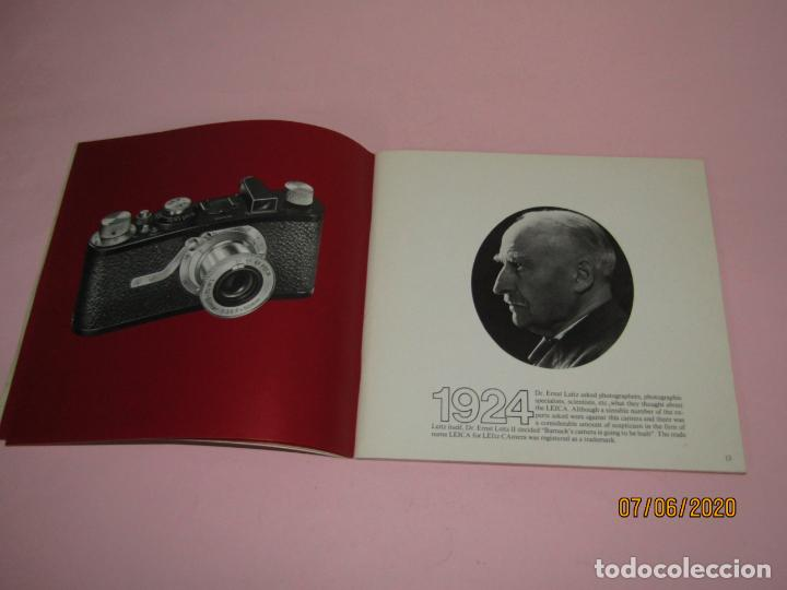Cámara de fotos: Antiguo *El Desarroyo del Sistema LEICA desde 1914-1981* - Propaganda de LEICA - Año 1981 - Foto 3 - 207967718