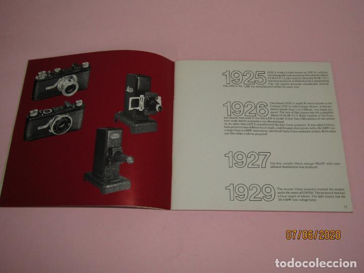 Cámara de fotos: Antiguo *El Desarroyo del Sistema LEICA desde 1914-1981* - Propaganda de LEICA - Año 1981 - Foto 4 - 207967718