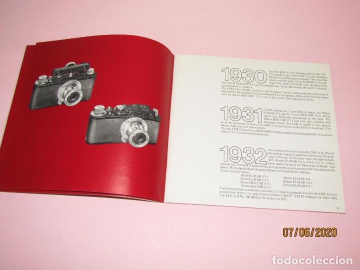 Cámara de fotos: Antiguo *El Desarroyo del Sistema LEICA desde 1914-1981* - Propaganda de LEICA - Año 1981 - Foto 5 - 207967718