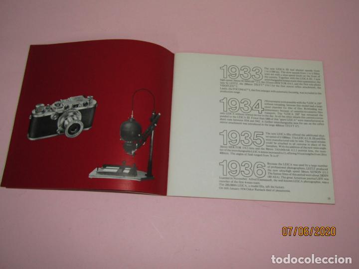 Cámara de fotos: Antiguo *El Desarroyo del Sistema LEICA desde 1914-1981* - Propaganda de LEICA - Año 1981 - Foto 6 - 207967718