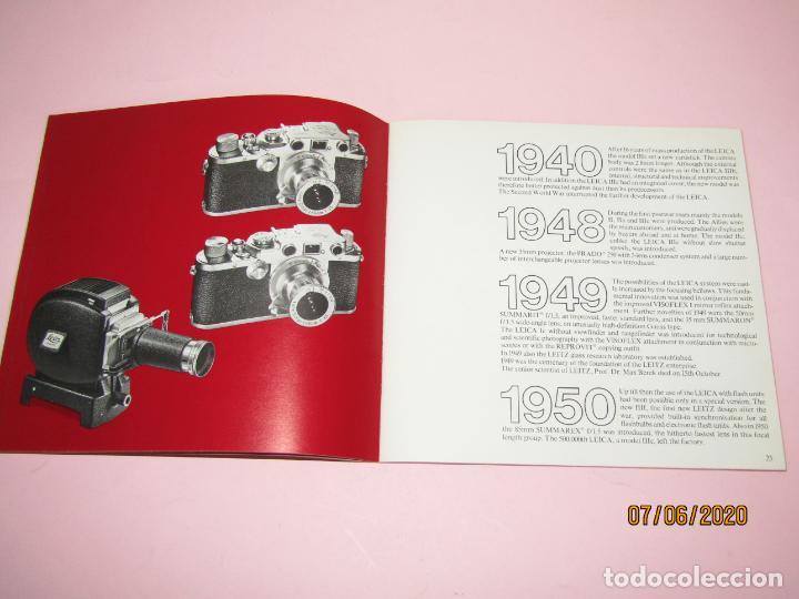 Cámara de fotos: Antiguo *El Desarroyo del Sistema LEICA desde 1914-1981* - Propaganda de LEICA - Año 1981 - Foto 8 - 207967718
