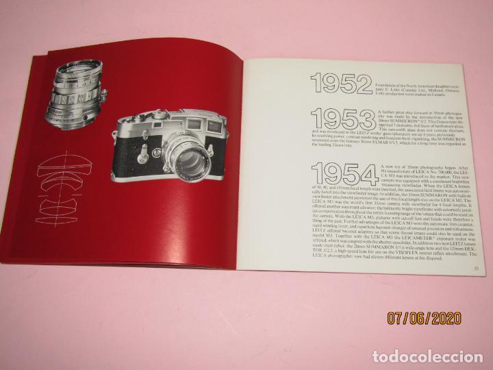 Cámara de fotos: Antiguo *El Desarroyo del Sistema LEICA desde 1914-1981* - Propaganda de LEICA - Año 1981 - Foto 9 - 207967718