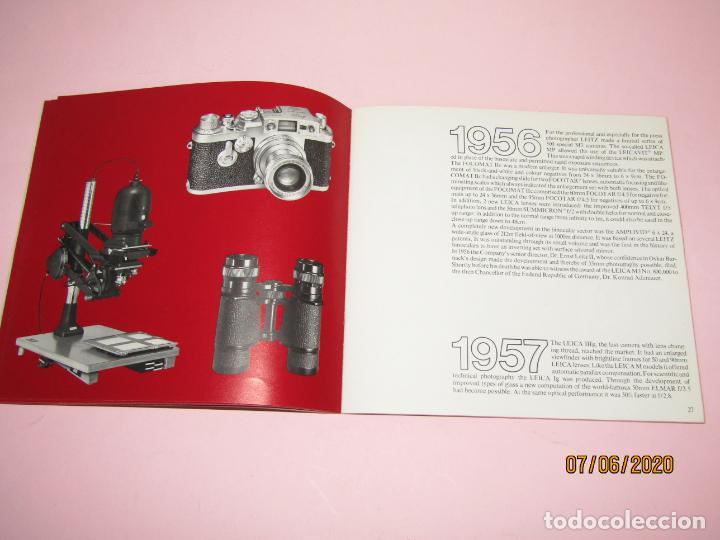 Cámara de fotos: Antiguo *El Desarroyo del Sistema LEICA desde 1914-1981* - Propaganda de LEICA - Año 1981 - Foto 10 - 207967718