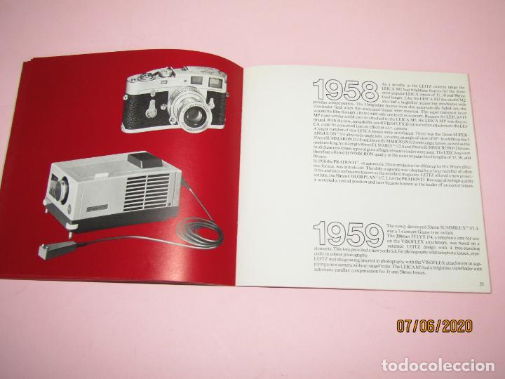 Cámara de fotos: Antiguo *El Desarroyo del Sistema LEICA desde 1914-1981* - Propaganda de LEICA - Año 1981 - Foto 11 - 207967718