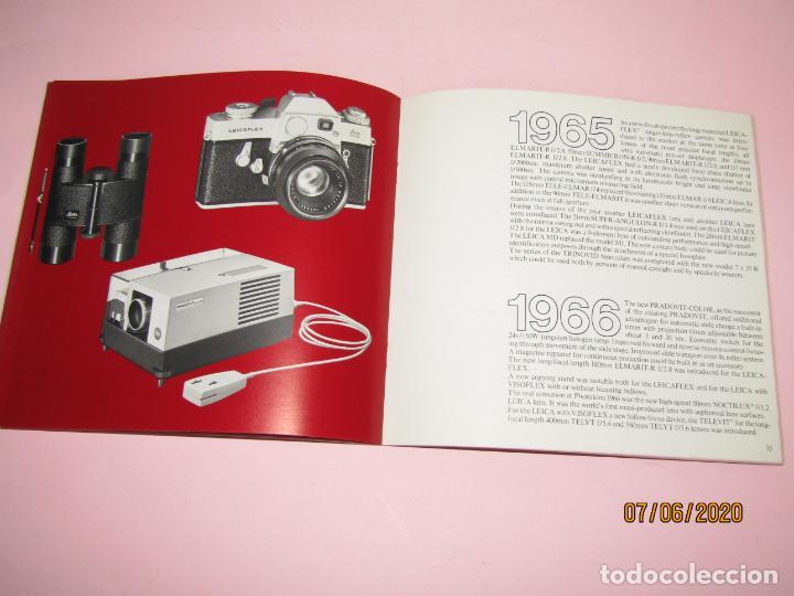 Cámara de fotos: Antiguo *El Desarroyo del Sistema LEICA desde 1914-1981* - Propaganda de LEICA - Año 1981 - Foto 13 - 207967718