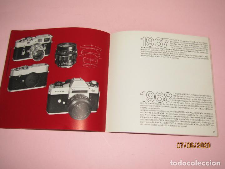 Cámara de fotos: Antiguo *El Desarroyo del Sistema LEICA desde 1914-1981* - Propaganda de LEICA - Año 1981 - Foto 14 - 207967718