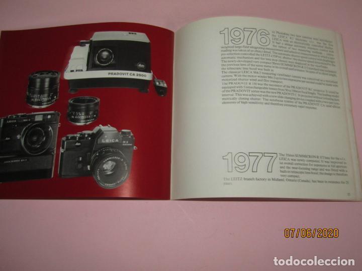 Cámara de fotos: Antiguo *El Desarroyo del Sistema LEICA desde 1914-1981* - Propaganda de LEICA - Año 1981 - Foto 17 - 207967718
