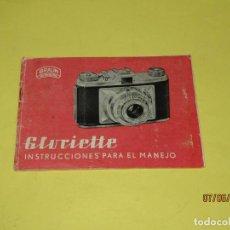 Cámara de fotos: ANTIGUO MANUAL DE INSTRUCCIONES EN ESPAÑOL ORIGINAL CÁMARA FOTOGRÁFICA GLORIETTE DE BRAUN NURNBERG. Lote 208079662