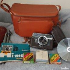 Cámara de fotos: LOTE FOTOGRAFICO MINOLTA HI-MATIC 1962. Lote 208697077