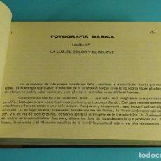 Cámara de fotos: FOTOGRAFÍA BÁSICA. TOMO I. LECCIÓN 1ª A 12 ª. CURSO DE FOTOGRAFÍA POR CORRESPONDENCIA ETAF 1967. Lote 209246542