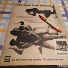 Cámara de fotos: CÁMARA DE FOTOS KODAK INSTAMATIC 104 ANUNCIO PUBLICIDAD REVISTA 1968. Lote 209393215