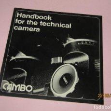 Cámara de fotos: ANTIGUO HANDBOOK PARA TÉCNICAS DE CÁMARA DE HASSELBLAD 80 AÑO 1980S.. Lote 209648493