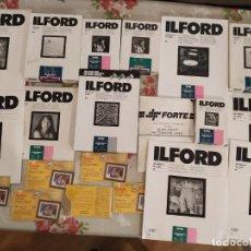 Cámara de fotos: ILFORD LOTE PAPEL FOTOGRÁFICO ILFORD MAS DE 6,5 KILOS. Lote 209689798