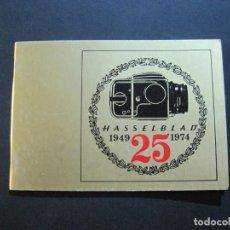 Cámara de fotos: CAMARA HASSELBLAD 1949 1975-CATALOGO PUBLICIDAD ANTIGUO-VER FOTOS-(V-21.059). Lote 210249120