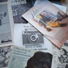 Cámara de fotos: HOJAS PUBLICIDAD CAMARAS FOTOGRAFICAS FOTOS AÑOS 60 70 CAMARAS PELICULAS TOMAVISTAS AGFA PENTAX .... Lote 210457452