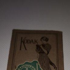 Cámara de fotos: CARPETA KODAK PARA NEGATIVOS AÑO 1921. Lote 210518412