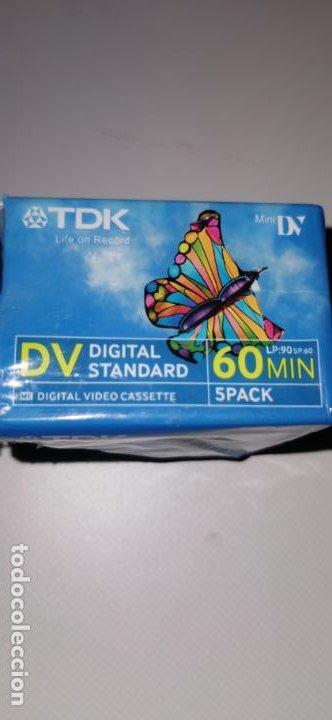 Cámara de fotos: 5 CINTAS MINI DV DIGITAL 60 MIN. TDK (PRECINTADA) - Foto 3 - 210520065