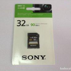 Cámara de fotos: SDHC MEMORY CARD SF-32UY3 . 32GB . 90 MB/S . SONY. Lote 211410986