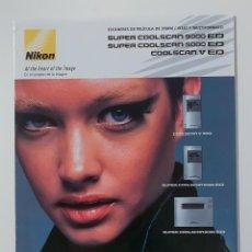Cámara de fotos: CATALOGO NIKON SUPER COOLSCAN 9000/5000/V. Lote 212135701