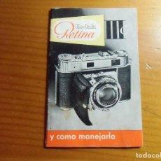 Appareil photos: FOTOGRAFIA.CAMARA KODAK RETINA III C.CATALOGO.34 PAGINAS,AÑOS 60.. Lote 212640566