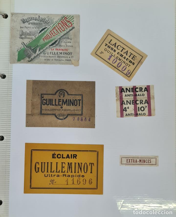 ALBUM. COLECCION DE 162 TARGETAS DE PLACAS FOTOGRAFICAS. SIGLO XIX-XX. (Cámaras Fotográficas - Catálogos, Manuales y Publicidad)