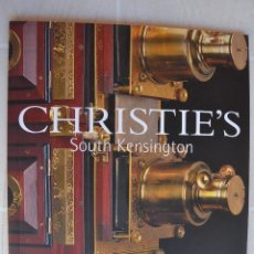 Fotocamere: NOVIEMBRE 2001 CATALOGO CRISTIE`S LINTERNAS MÁGICAS CÁMARAS FOTOGRÁFICAS Y INSTRUMENTOS ÓPTICOS. Lote 213332320