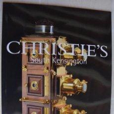 Fotocamere: NOVIEMBRE 2004 CATALOGO CRISTIE`S LINTERNAS MÁGICAS CÁMARAS FOTOGRÁFICAS Y INSTRUMENTOS ÓPTICOS. Lote 213332932
