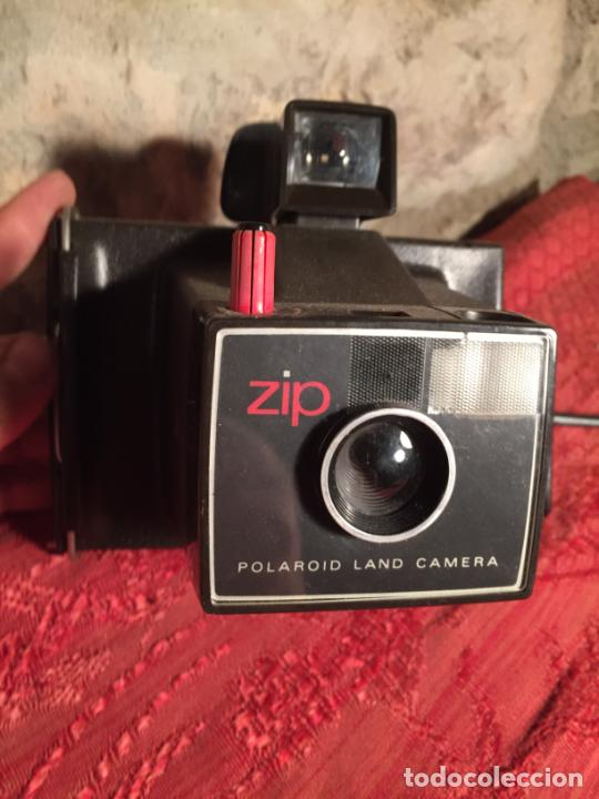 ANTIGUA CÁMARA FOTOGRÁFICA POLAROID LAND CAMERA ZIP AÑOS 60-70 (Cámaras Fotográficas - Otras)