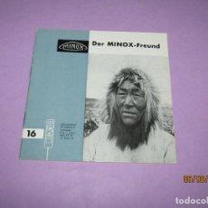 Cámara de fotos: ANTIGUO CATÁLOGO MANUAL EL AMIGO MINOX Nº 16 DE LA CASA MINOX DEL AÑO 1965. Lote 214006760