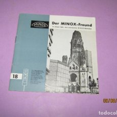 Cámara de fotos: ANTIGUO CATÁLOGO MANUAL EL AMIGO MINOX Nº 18 DE LA CASA MINOX DEL AÑO 1968. Lote 214007103