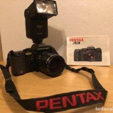 Cámara de fotos: PENTAX A3 ASAHI KOGAKU (1984)CON LIBRO DE INSTRUCCIONES,FLASH PENTAX 828 ZOOM Y OBJETIVO PENTAX. Lote 214139910