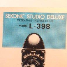 Fotocamere: MANUAL SEKONIC L 398. Lote 214202330