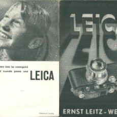 Fotocamere: 3937.- FOTOGRAFIA-CAMARA LEICA-TRIPTICO PUBLICITARIO AÑO 1934. Lote 214829918